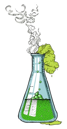 Cartoon image of chemicals Illustration
