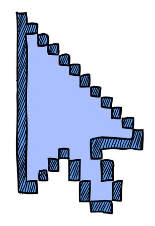 Cartoon image of Pointer Icon. Cursor arrow symbol