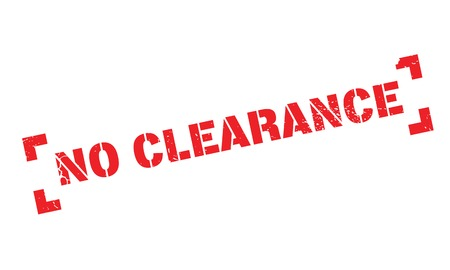 clearing: No Clearance rubber stamp