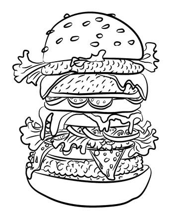 맛있는 햄버거의 만화 이미지