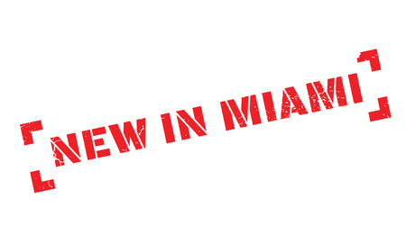 New In Miami rubber stamp Imagens - 77706725