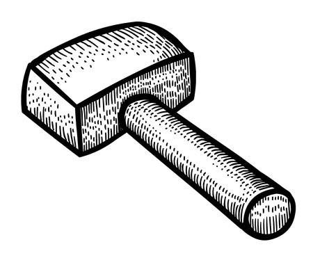 forge: Cartoon image of hammer