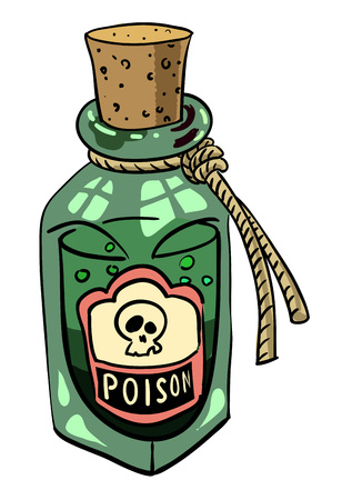 Cartoon image of poison