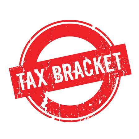 tax bracket: Tax Bracket rubber stamp Illustration