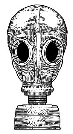 Imagen de dibujos animados de la máscara de gas