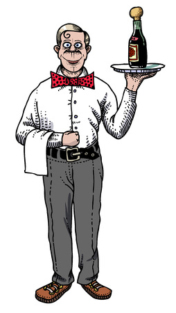 Cartoon image of waiter