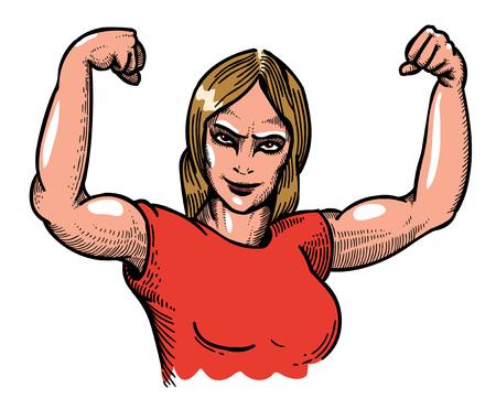 Cartoon image of gym woman Illustration