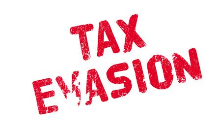 Tax Evasion rubber stamp