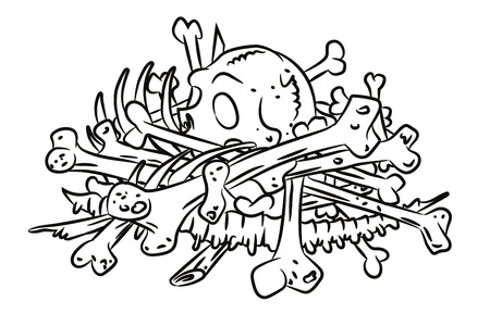 Cartoon image of pile of bones