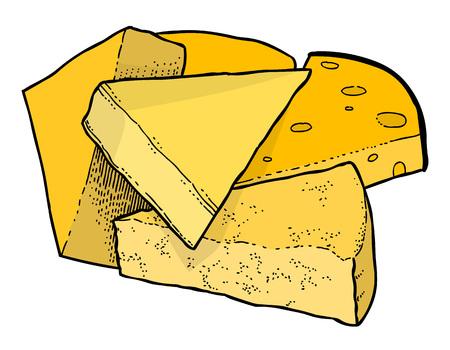 Cartoon image of cheese
