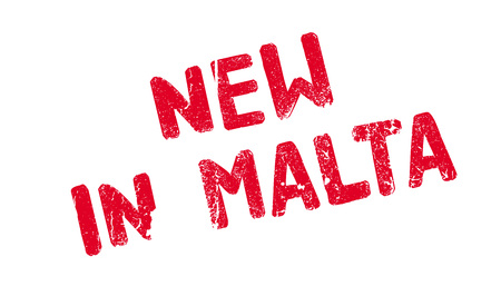 New In Malta rubber stamp