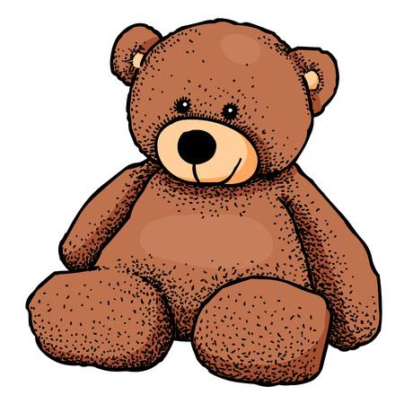 lug: Cartoon image of teddy bear Illustration