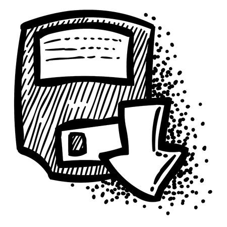 Cartoon image of Save Icon. Floppy symbol