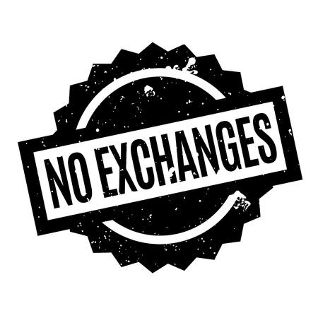 No Exchanges rubber stamp Stock Vector - 77707147