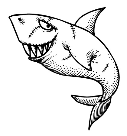 dodger: Cartoon image of shark