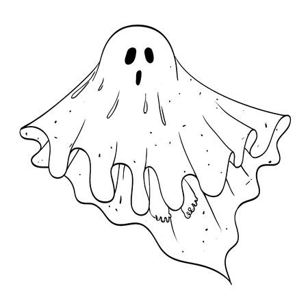 Cartoon image of ghost