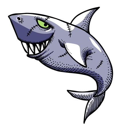 Cartoon image of shark
