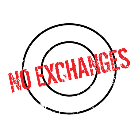 No Exchanges rubber stamp Stock Vector - 77707282