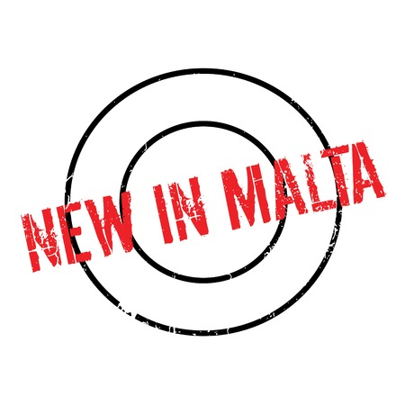 malta: New In Malta rubber stamp