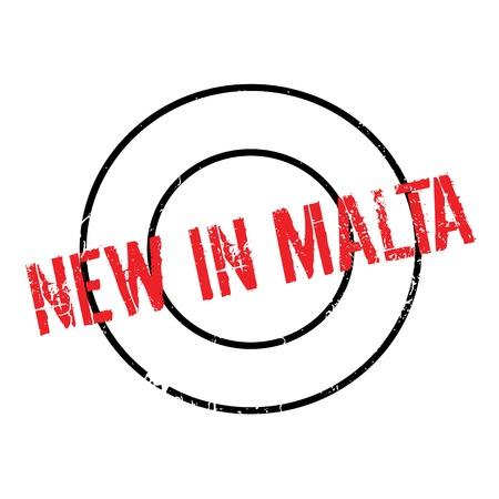 New In Malta rubber stamp