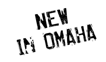 omaha: New In Omaha rubber stamp