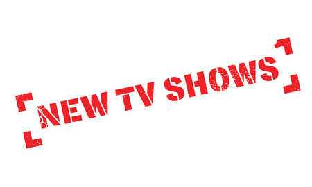 New Tv Shows rubber stamp