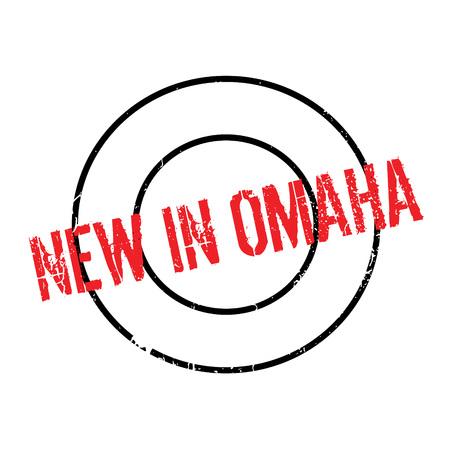 Nuovo nel timbro di gomma di Omaha Archivio Fotografico - 77707578