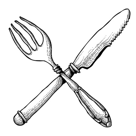 Cartoon image of knife and fork