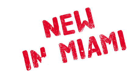 New In Miami rubber stamp Ilustração