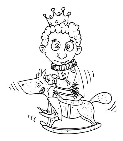 Cartoon image of idiot prince
