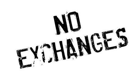 No Exchanges rubber stamp Illustration