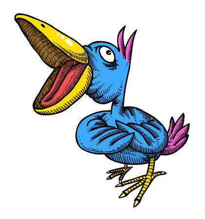Image de bande dessinée de l'oiseau chanteur Vecteurs
