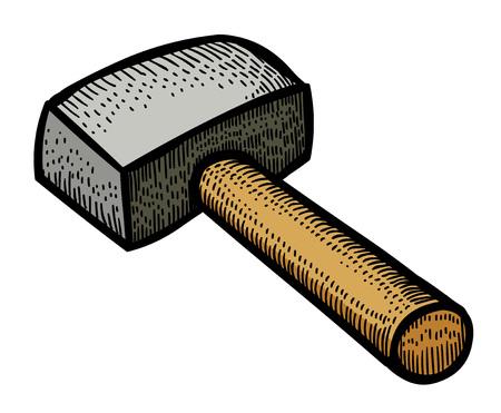 to thrash: Cartoon image of hammer