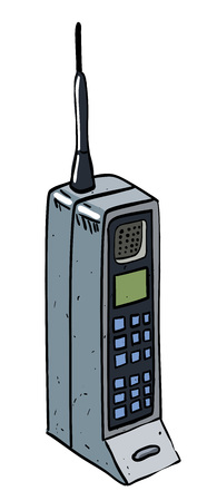 adaptable: Cartoon image of mobile phone