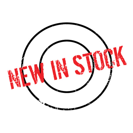 novel: New In Stock rubber stamp