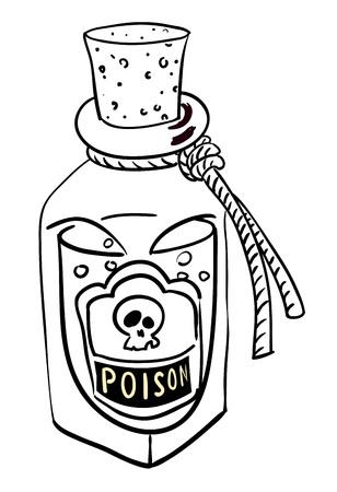 poison: Cartoon image of poison