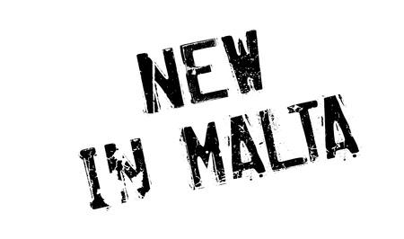 corsica: New In Malta rubber stamp