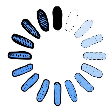 Cartoon image of Upload Icon Illustration