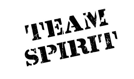Team Spirit rubber stamp