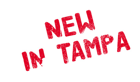 devil ray: New In Tampa rubber stamp
