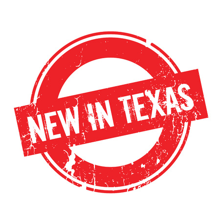 New In Texas rubber stamp