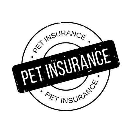 white backing: Pet Insurance rubber stamp Illustration