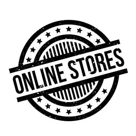 Online Stores rubber stamp Stock Photo