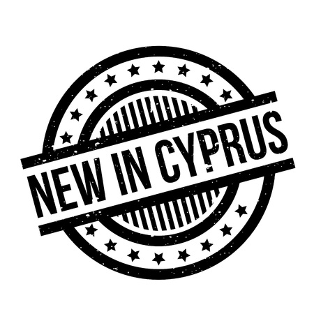 New In Cyprus rubber stamp Ilustrace