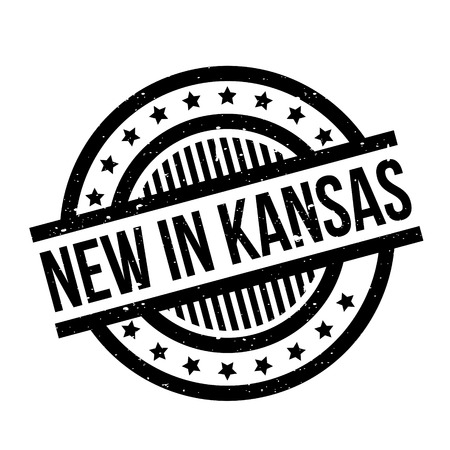 midwest: New In Kansas rubber stamp