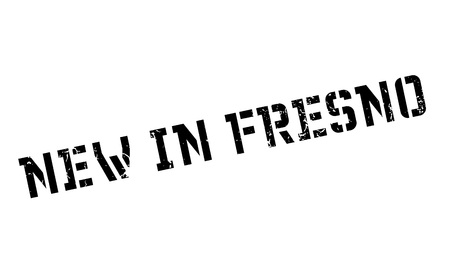 New In Fresno rubber stamp Stock Photo