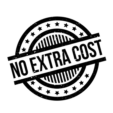 No Extra Cost rubber stamp