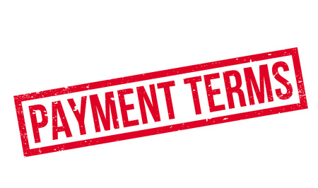 stipulation: Payment Terms rubber stamp Stock Photo