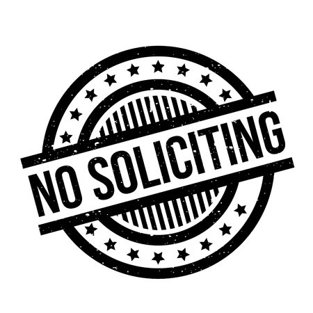 soliciting: No Soliciting rubber stamp