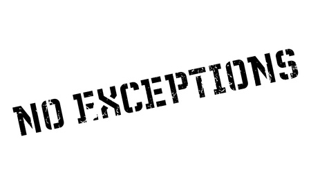 No Exceptions rubber stamp Stock Photo
